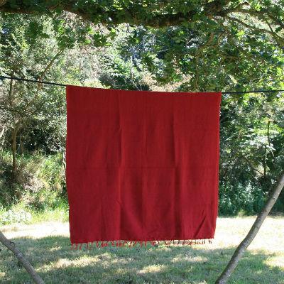 Tibetaanse deken bordeaux rood