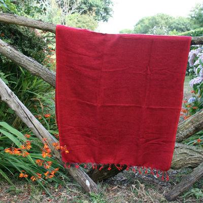 Tibetaanse omslagdoek bordeaux rood