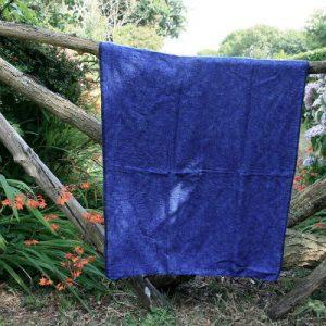 Tibetaanse omslagdoek lavendel blauw