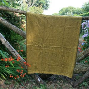 Tibetaanse omslagdoek oker geel